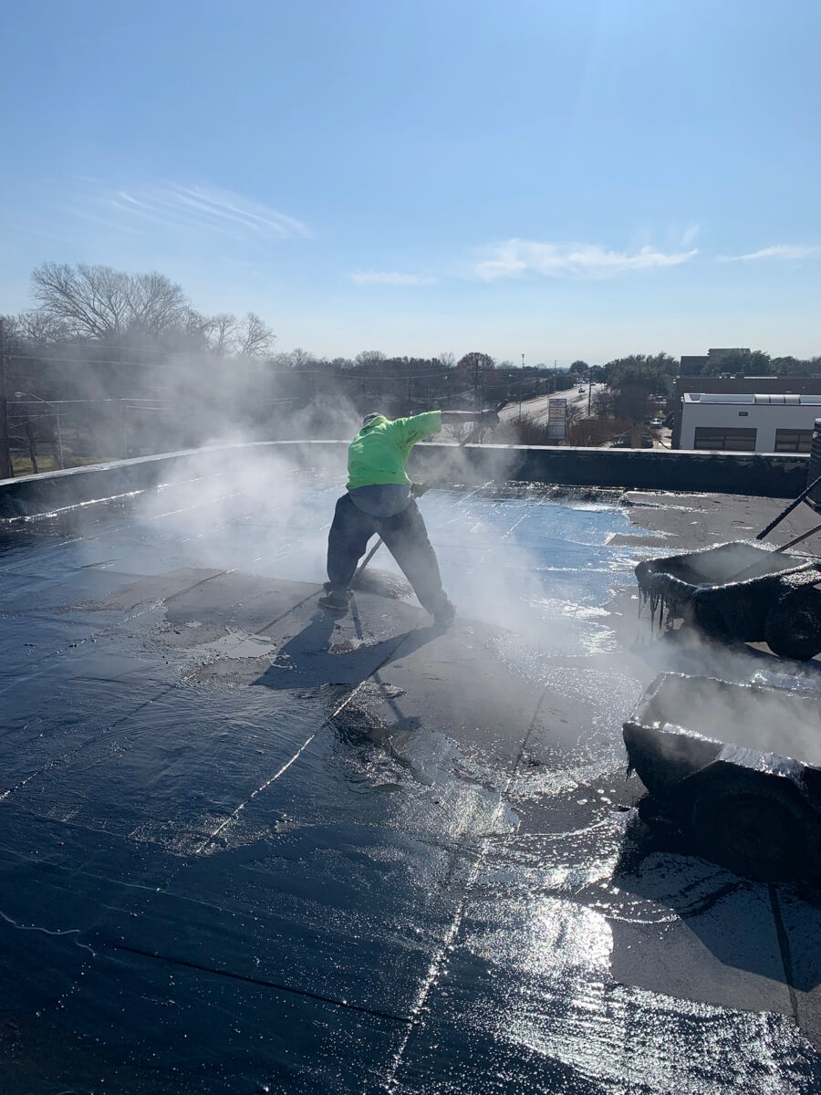 Dallas Commercial Roofing Hot Tar