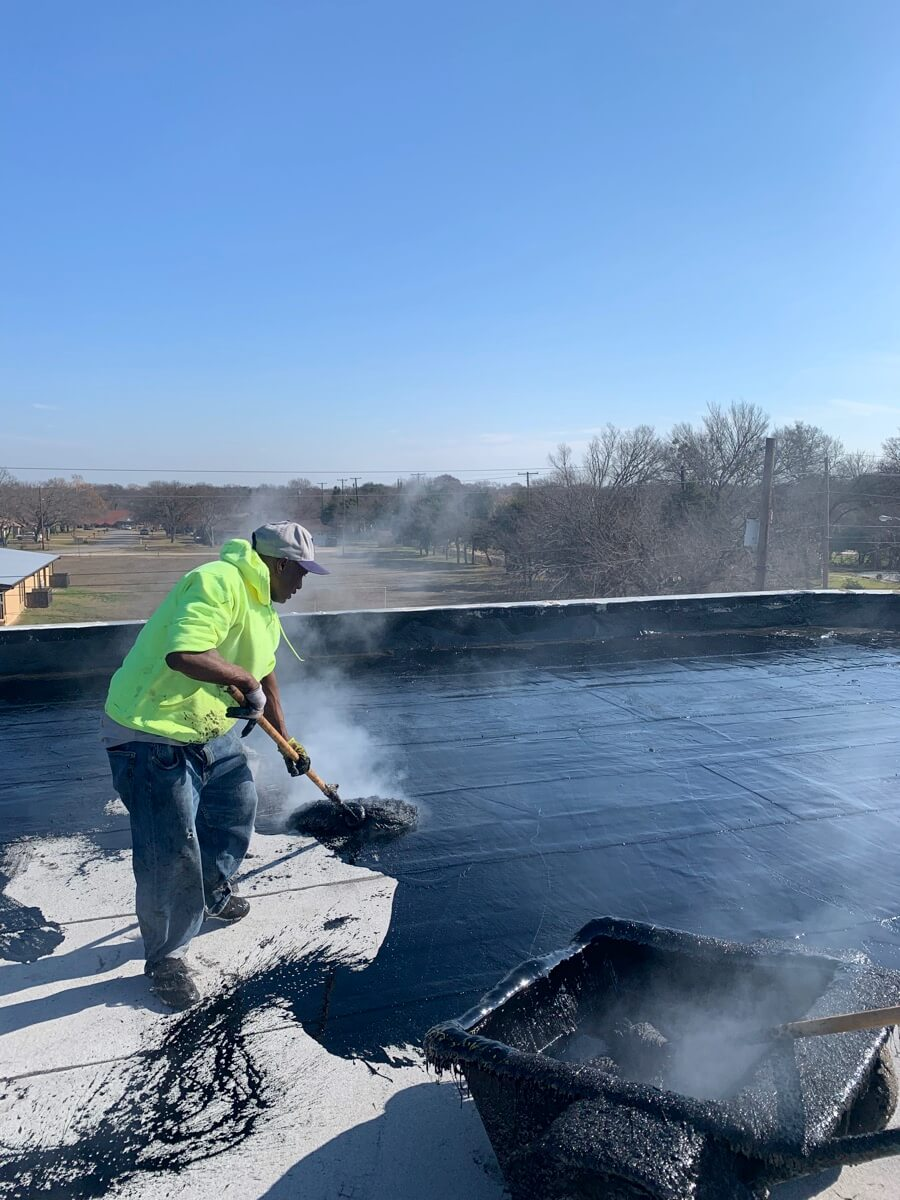 Dallas Commercial Roofing Experts Hot Tar